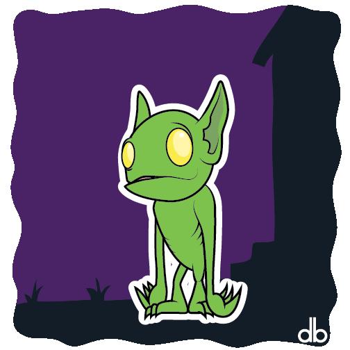 Hopkinsville Goblin Sticker by Gr8Gonzo