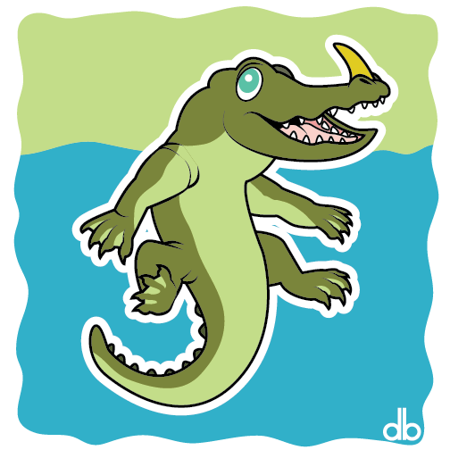 Alkali Lake Monster Sticker by Gr8Gonzo