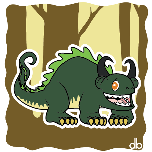 Hodag Sticker by Gr8Gonzo