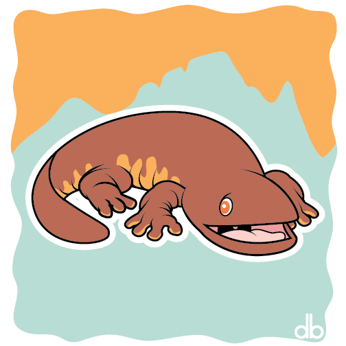 Giant Salamander Sticker by Gr8Gonzo