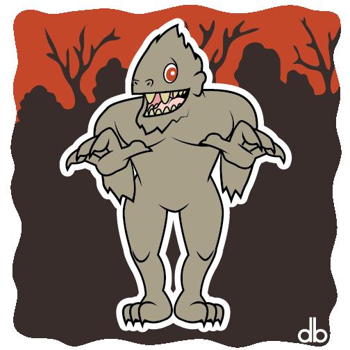 Fouke Monster Sticker by Gr8Gonzo