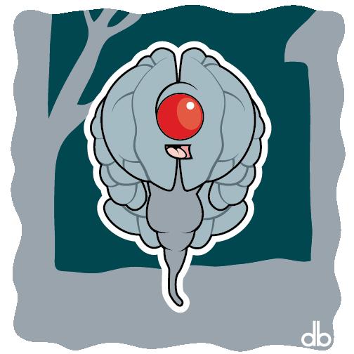 Space Brain Sticker by Gr8Gonzo