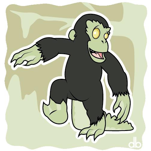 Honey Island Swamp Monster Sticker by Gr8Gonzo