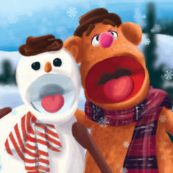Snowman and Fozzie