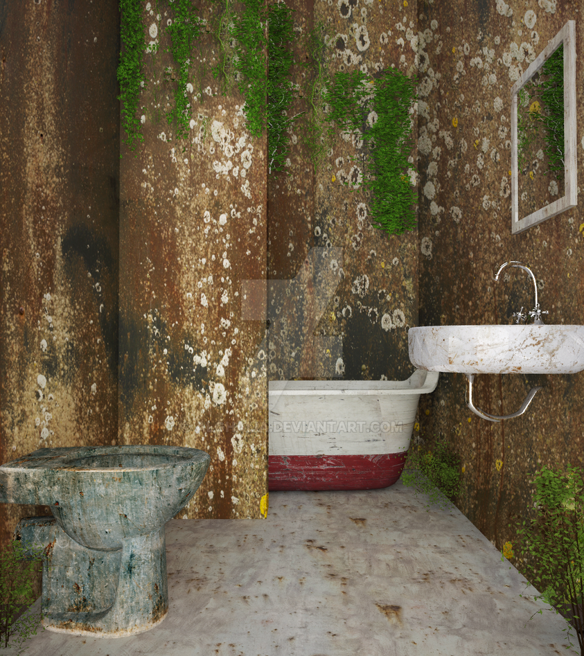 old bathroom by alghalia