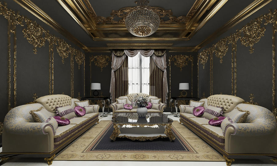 living room by alghalia