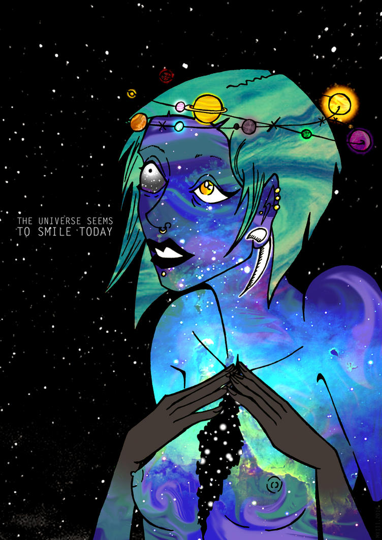 The universe seems to smile today by MillinerXIII