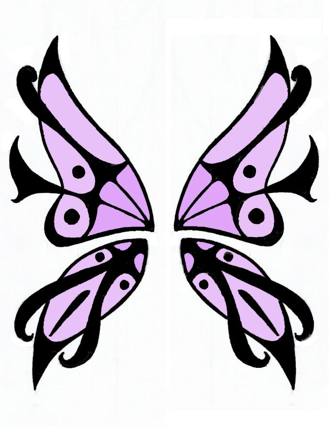 Butterfly Wings Design - butterfly tattoo