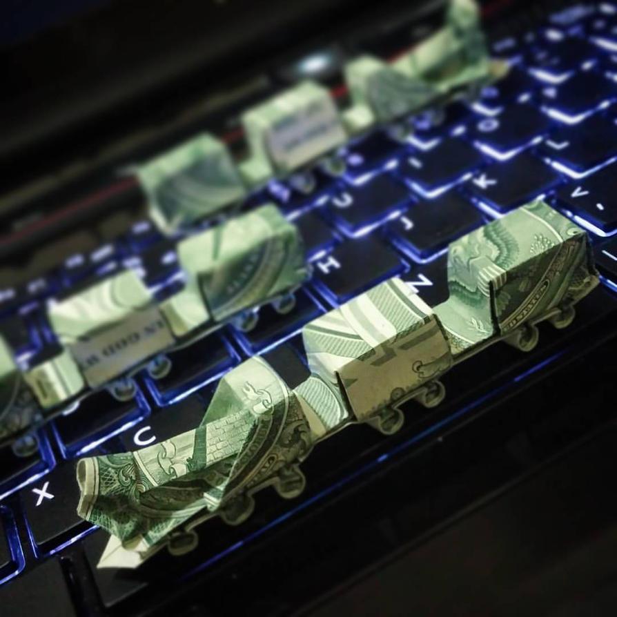 Dollarorigami Origami Moneyorigam Money Train Desi By Squall0192