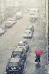 Snow in Stuttgart West by Finvara
