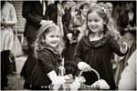 at a wedding - flowergirls