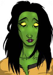 Zombie girlfriend coloured