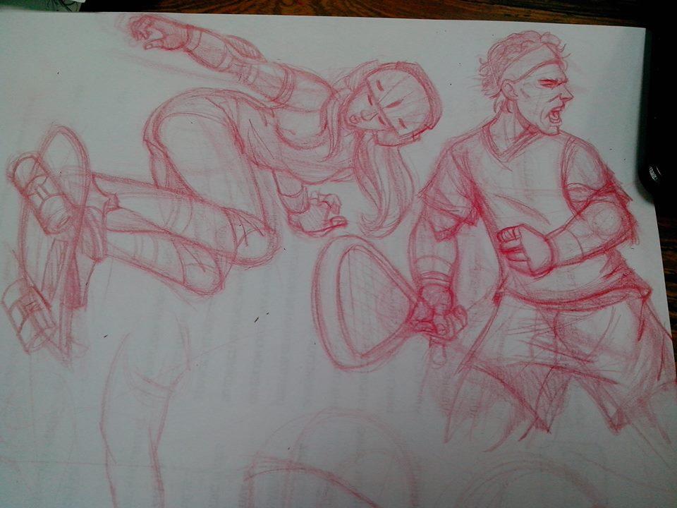 Sketching practice :) by kitsunekei1