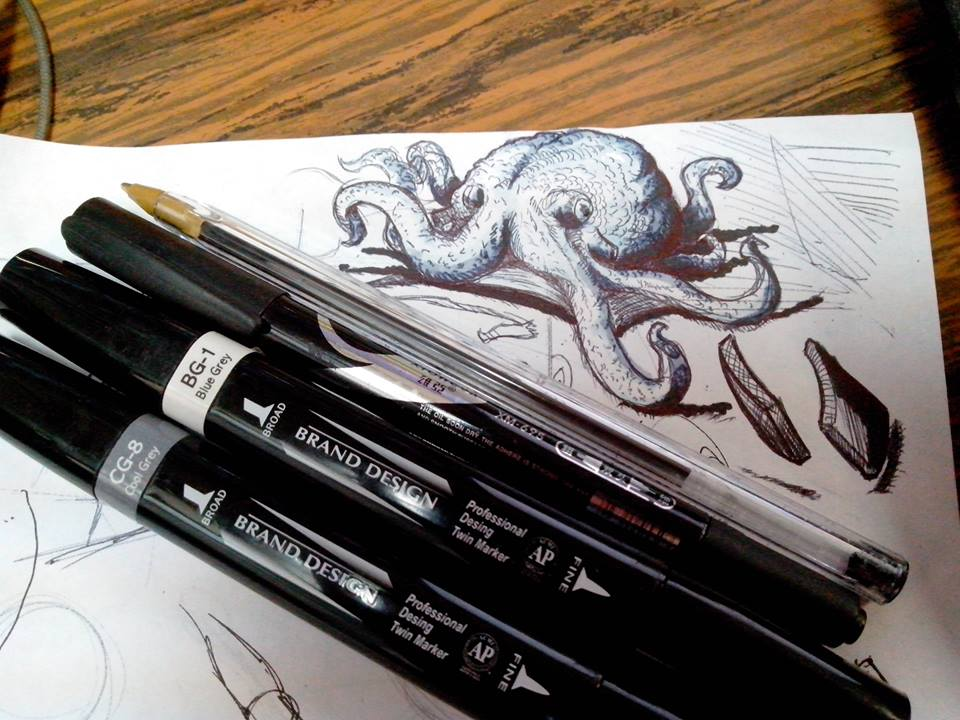 Pre inktober octopus :) by kitsunekei1