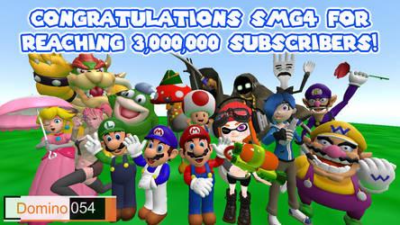 SMG4 3 Million Subcribers Celebration Pic by Matthew250