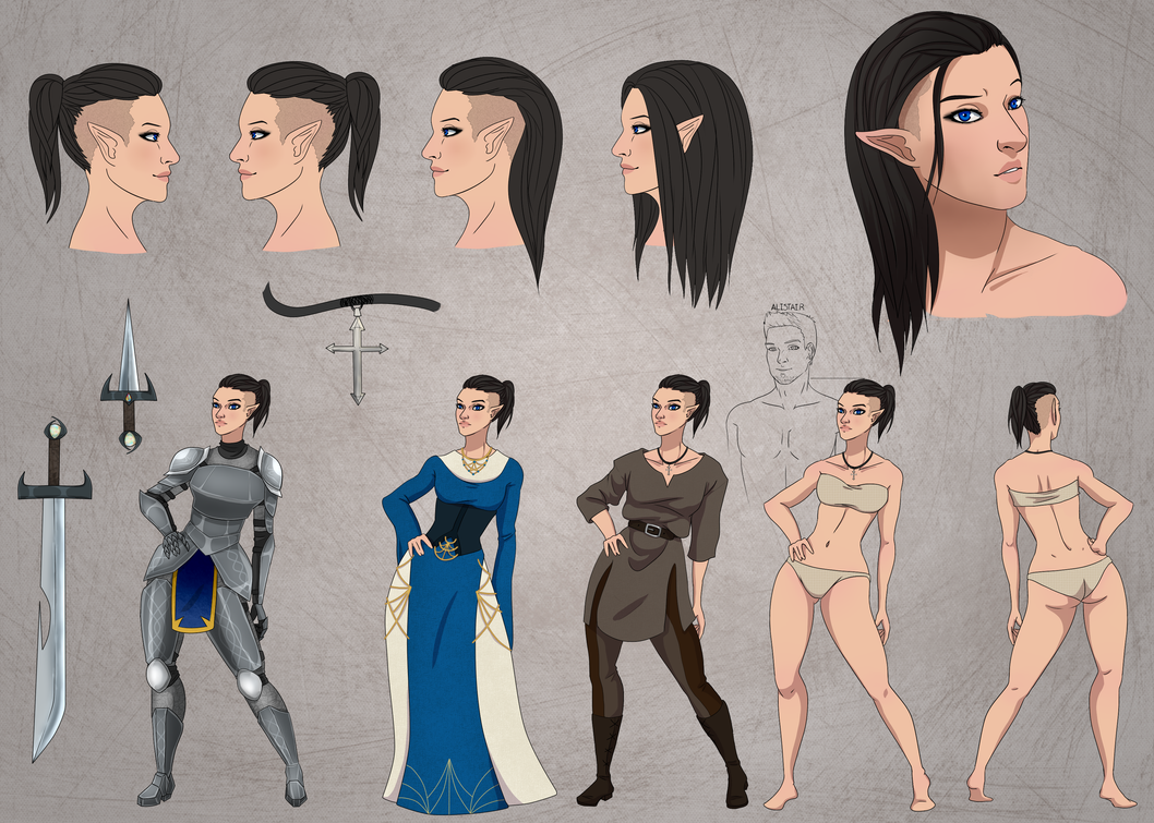 Dragon Age:Origins Character sheet by NellyMonster