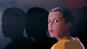 ELEVEN // STRANGER THINGS \\ POLYGON ART by Selyster