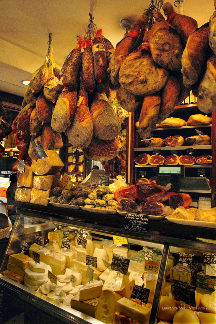 Cheese an Meats  Bologna by PzlWksMedia