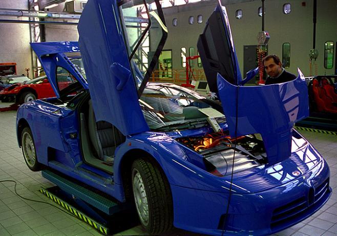 EB110 Preproduction Bugatti by PzlWksMedia