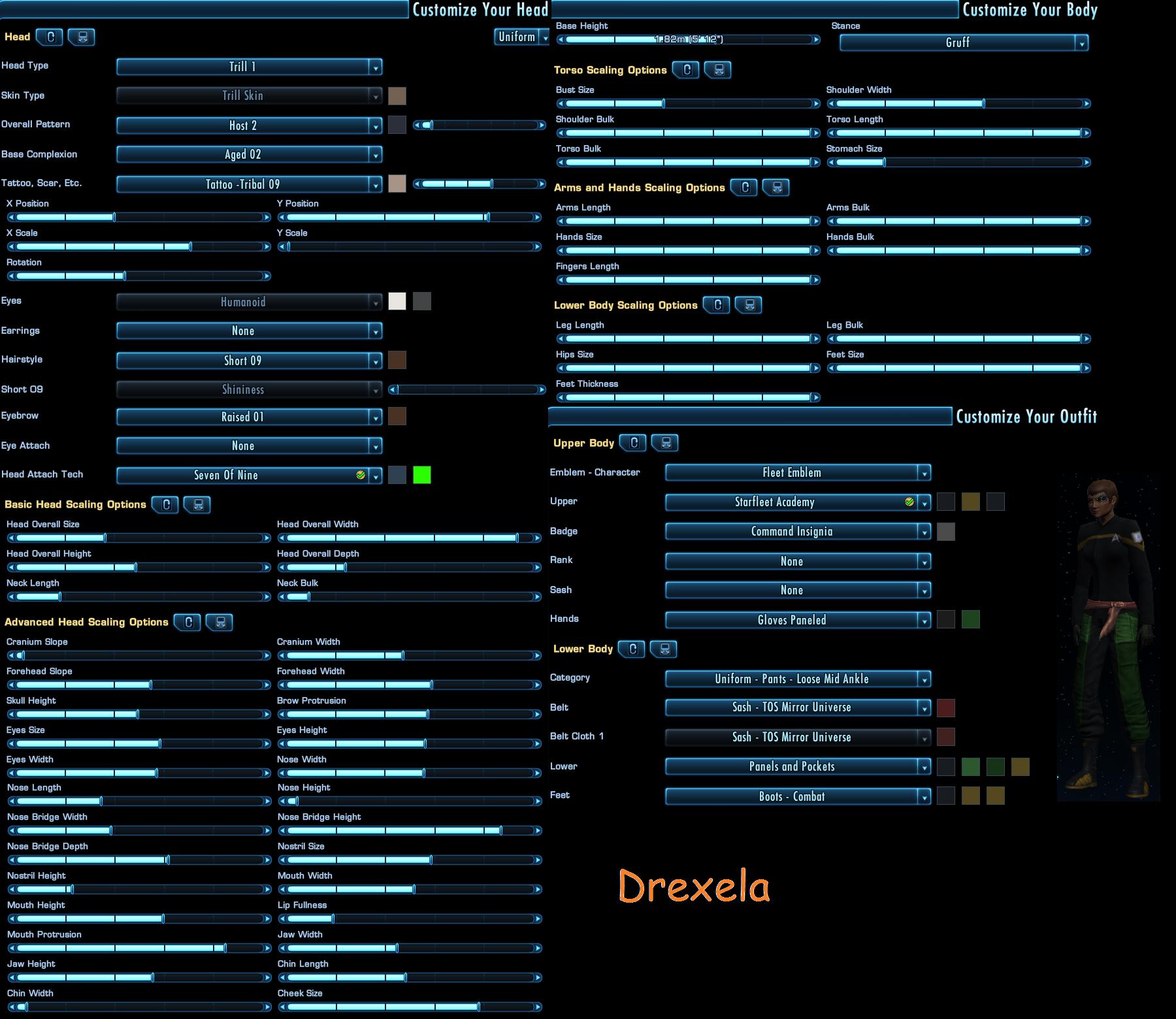 Drexela character sheet by marhawkman