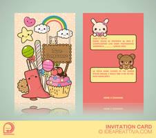 Birthday invitation card by ideareattiva