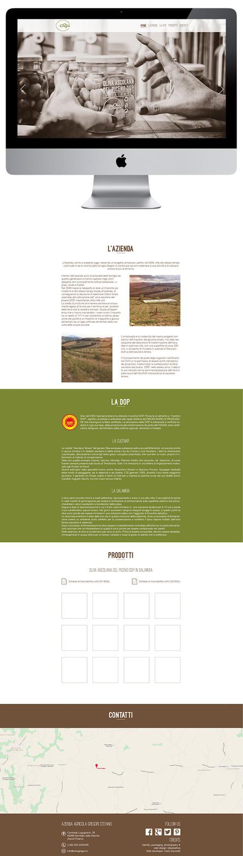 Olive Gregori Website by ideareattiva