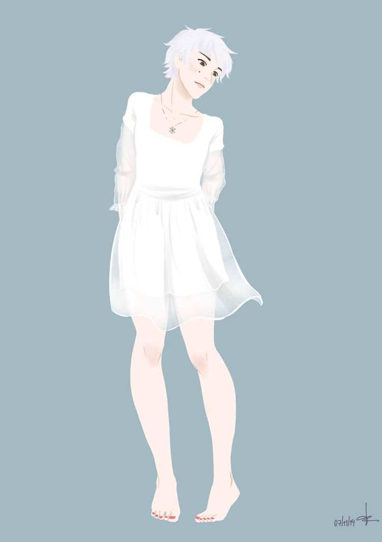 White dress by Taradun