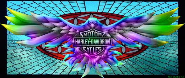 Fanart Enhanced Harley Davidson Fire Logo By Lasercrew420
