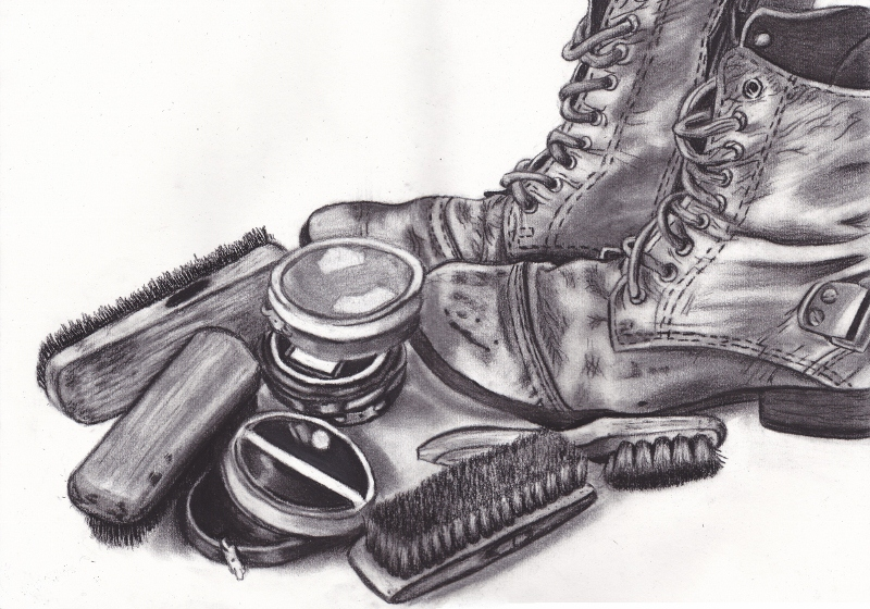 chalk and charcoal composition development 1 by changingtherain on