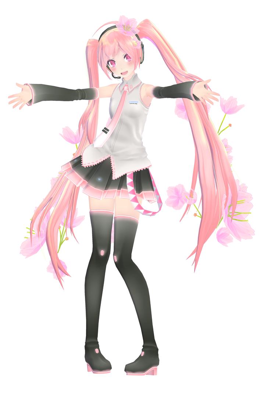 TDA Sakura Miku by HelloStrobePants