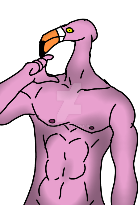 Sexy Flamingo (NOT A FURRY) by MadiMJ on DeviantArt 932f52f592b0