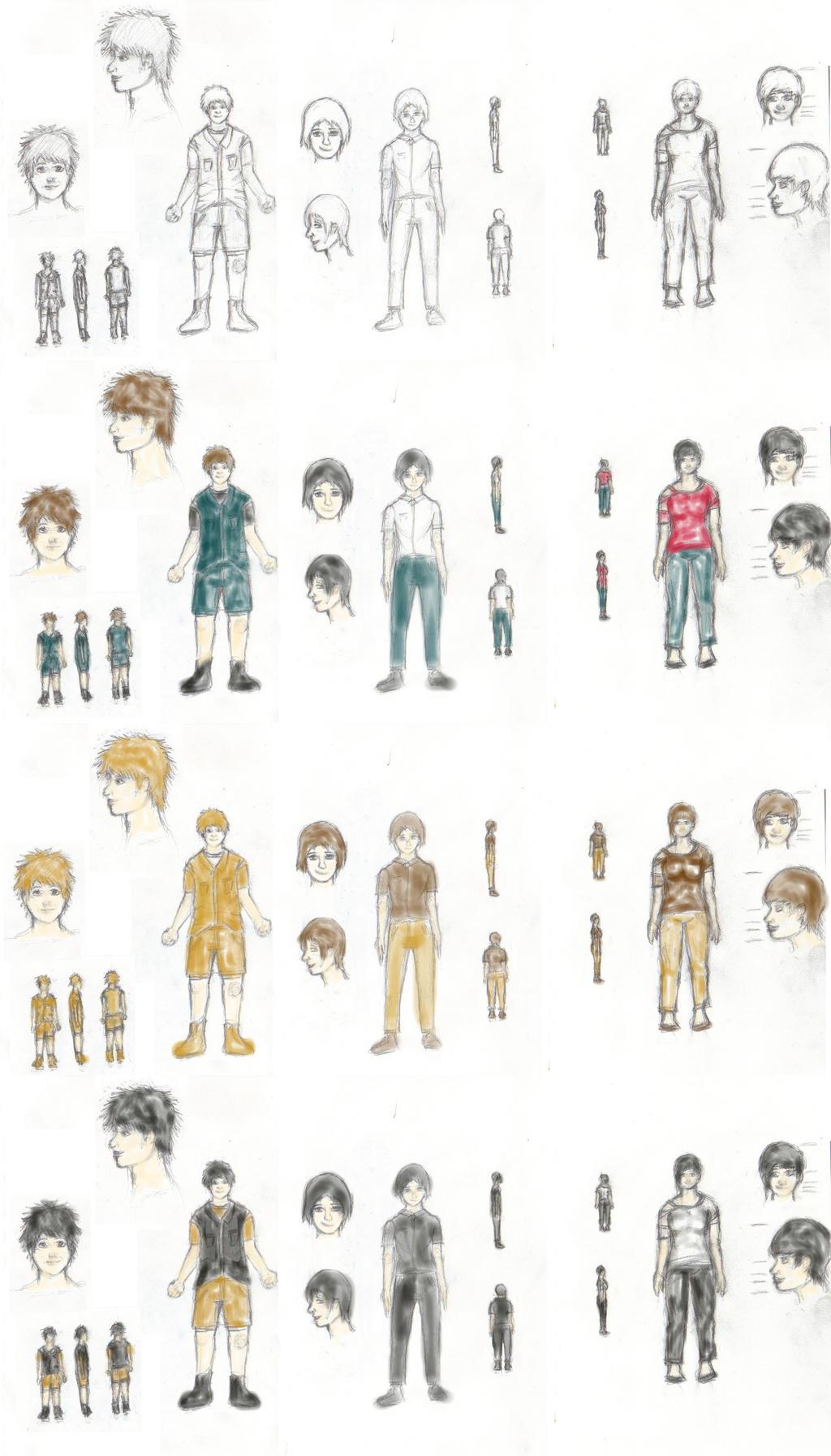 AnimationCharacterGroup1 by anime-halo
