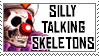 Silly Talking Skeletons by DeadCatStamps