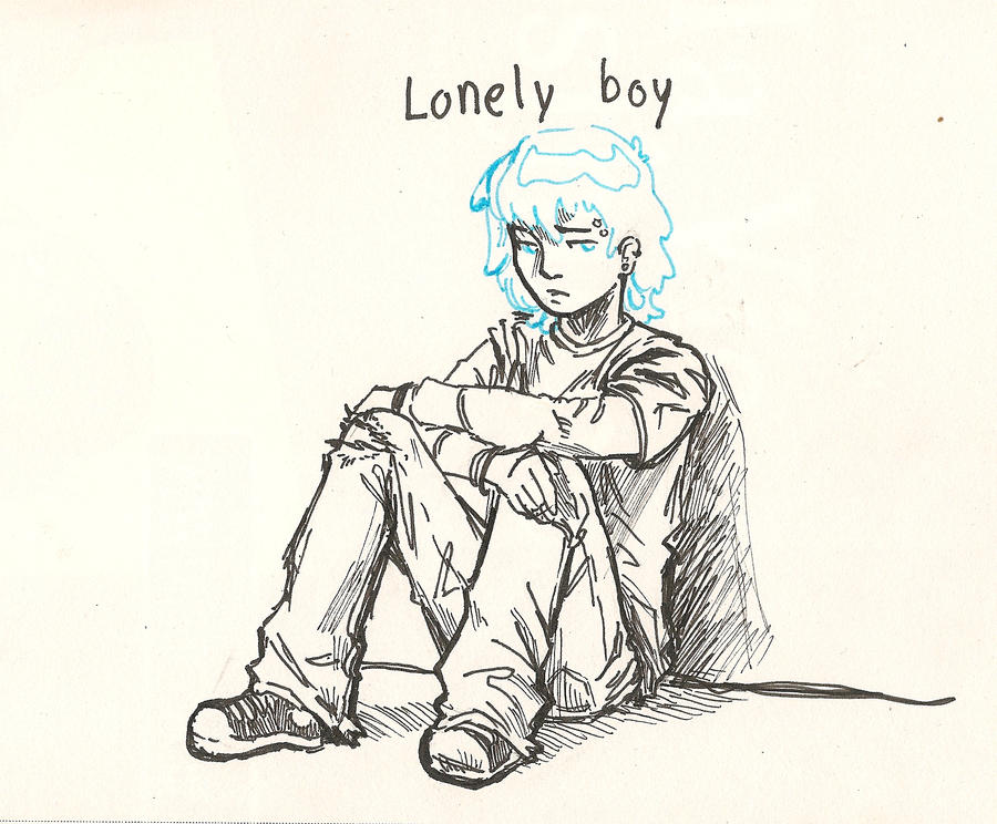 how to draw a lonley kid easy