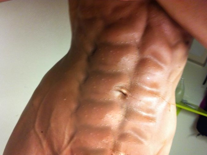 Nude female bodybuilder takes two loads and loves it 3