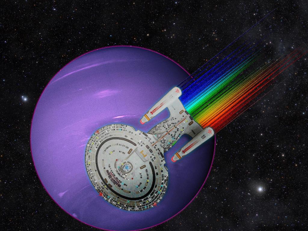 Enterprise 1701D Warp Speed