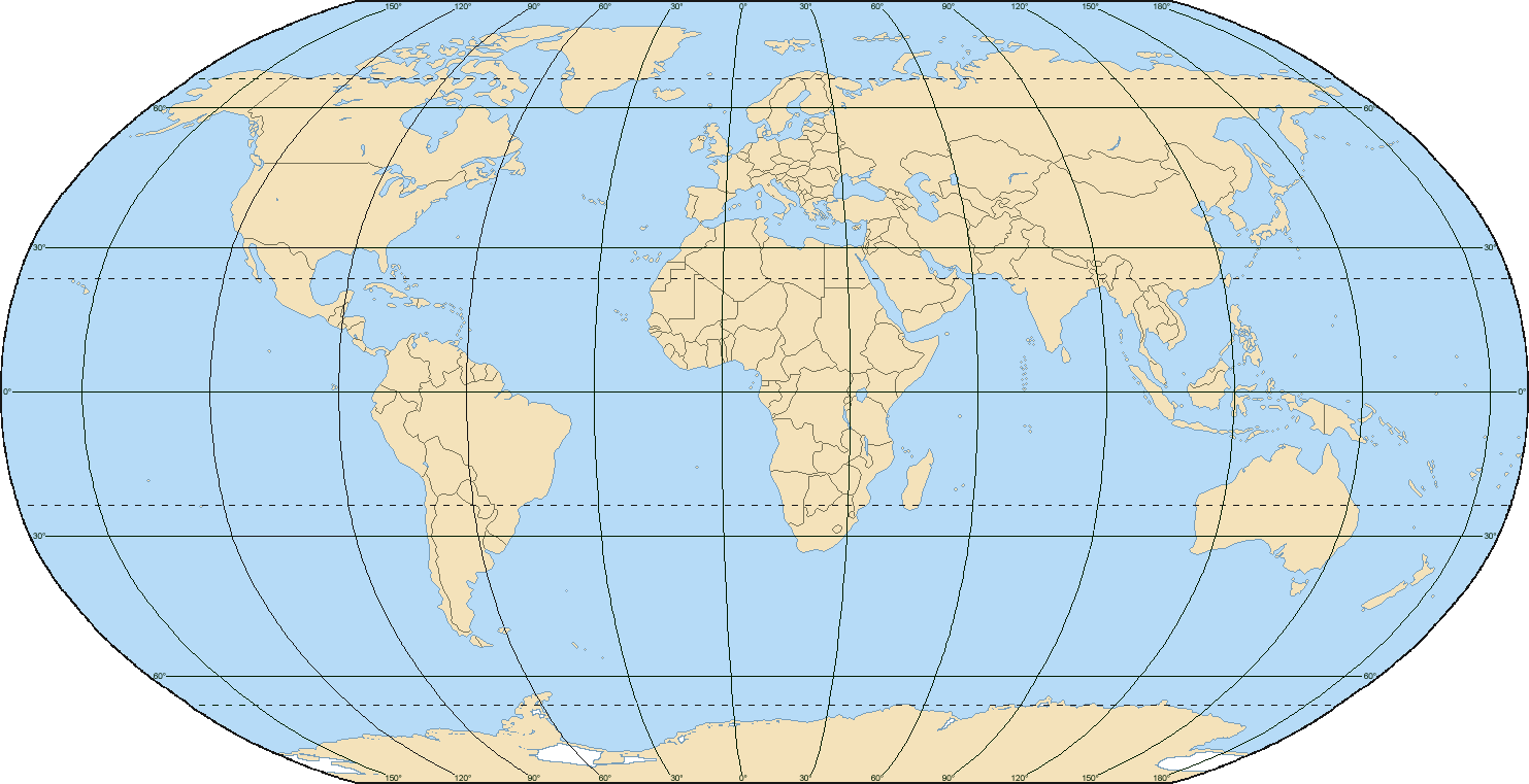 World Map with Grid