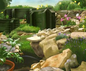 Backyard Background by Ariegn