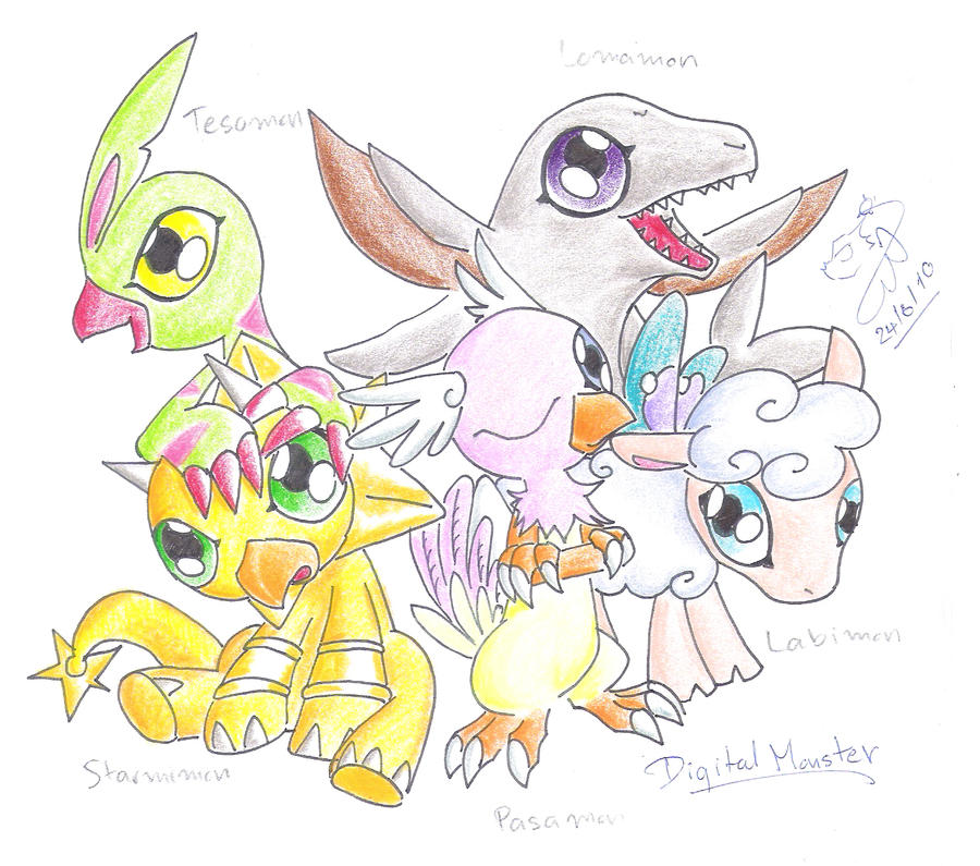 The Digimons :Rookies By Winged-Dragoness On DeviantArt