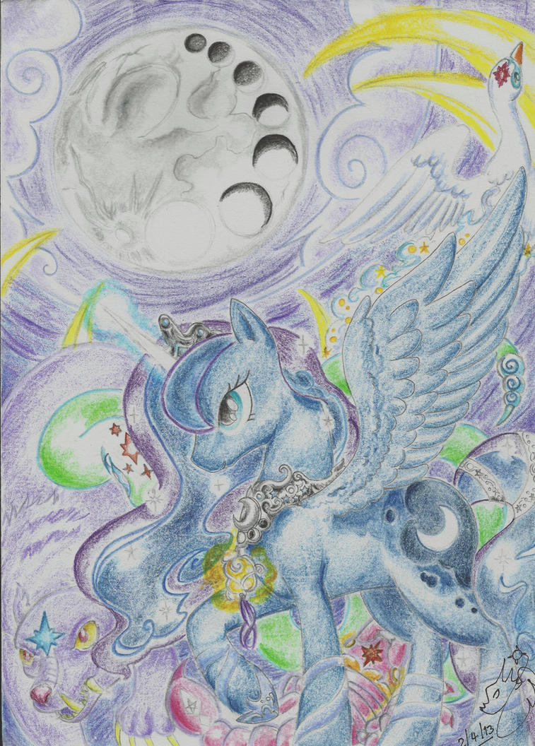 The Dusk bringer and her starry subjects. by Winged-Dragoness