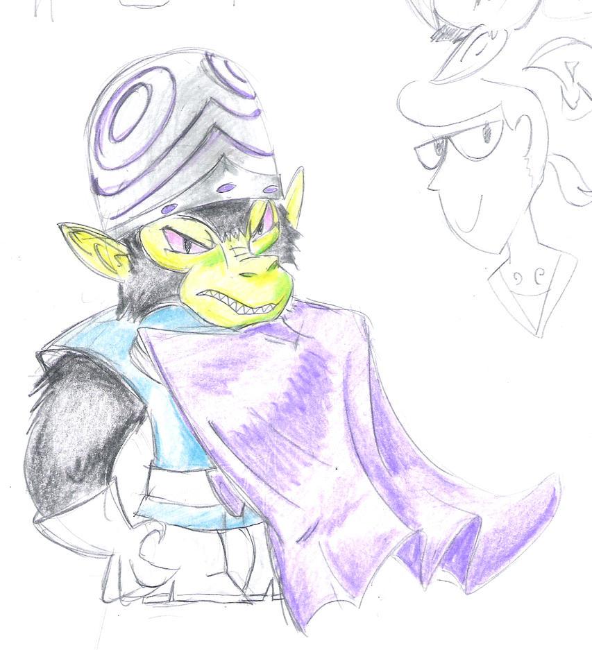 It's Mojo Jojo! by Winged-Dragoness