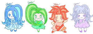 The 4 elements (adoptables)