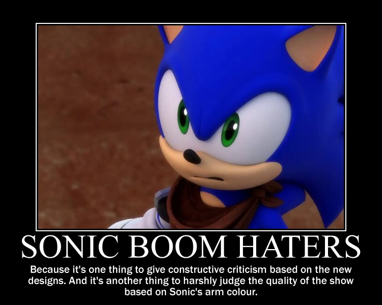 Sonic Boom Demotivational Sonic Boom Designs By Mrneedlemouse00 On Deviantart