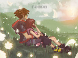 Sora_Kairi_Kingdom Hearts 3