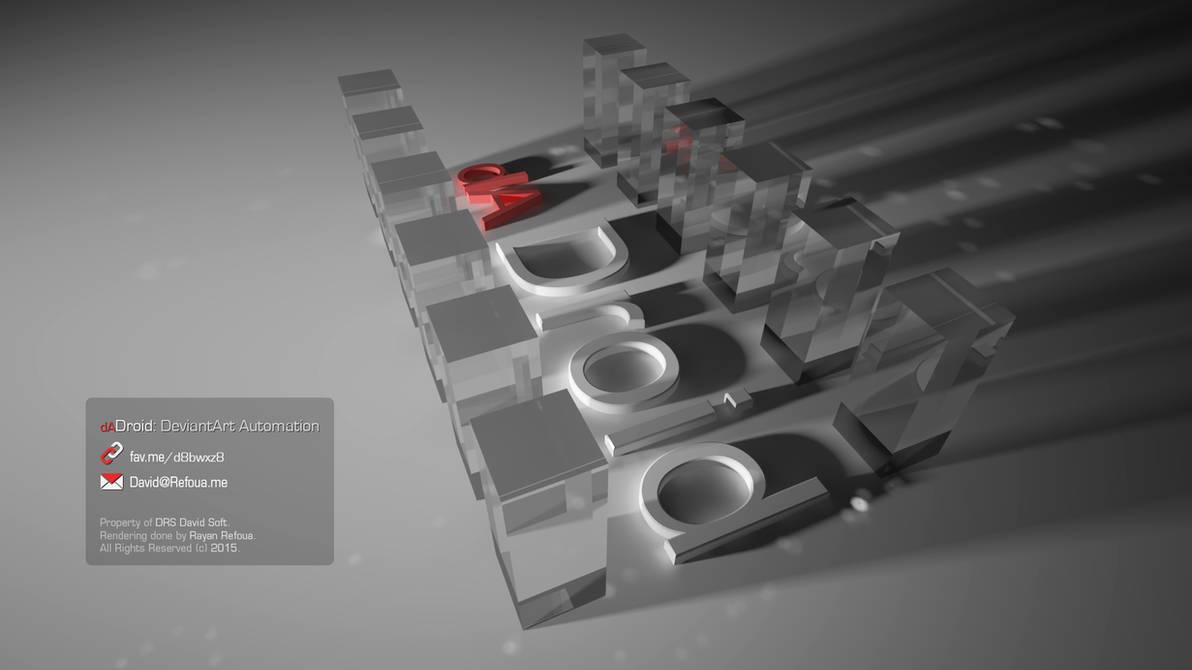 3D Render: dADroid Crystals by DRSDavidSoft
