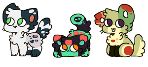 [Pen] - [mildly] spooky Kitty Adopts ( OPEN 1/3 ) by bumbleteaa