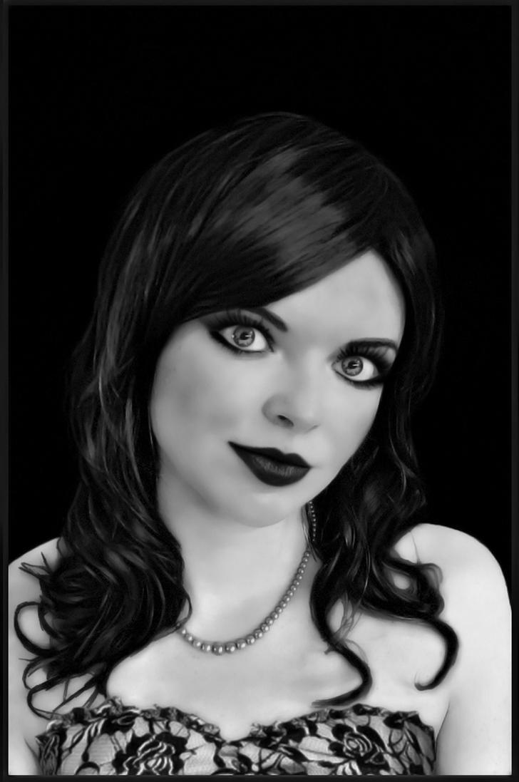 Portrait Black and White by Ailedda
