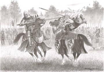 The beginning of the Battle of Koronowo - skirmish