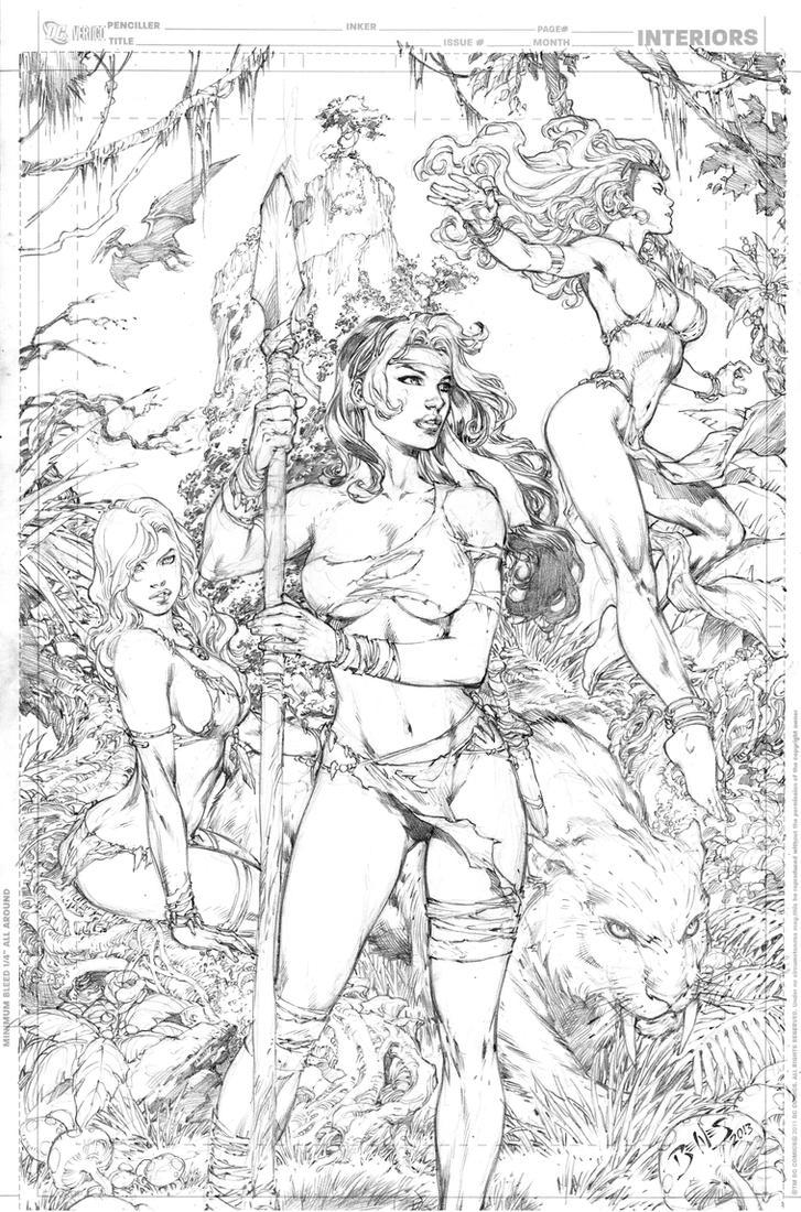 X-Men Girls by Ed-Benes-Studio