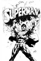 COVER SUPERMAN #28 - INK - by ED BENES by Ed-Benes-Studio